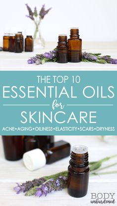 Essential oils have such amazing properties for the skin! Check out which are the best essential oils for skincare and for your skin needs: aging, acne, oily skin, elasticity, scars, and dry skin. via @bodyunburdened