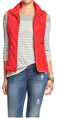 Weekend Steals & Deals // Old Navy Quilted Zip-Front Vest