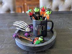 Poison Apple Mug, Poison Apples, Halloween Displays, Halloween Decorations, Halloween Candy Apples, Fourth Of July Decor, Fake Food, Tray Decor, Red Apple