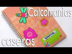 Pegatinas / Calcomanias caseras para decorar cuadernos cartas tarjetas libros agendas