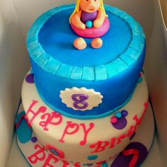 My niece's birthday cake for a pool party :-) so cute!
