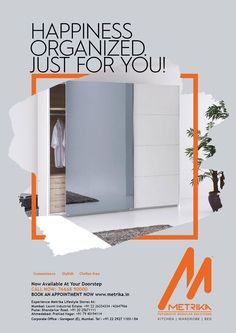 ☺️ Happiness Organised Just For You! ☺️ ➡️ This is brand new beds and wardrobe. Our experts can design customized wardrobes and walk in closets as per your Tastes and Requirements ➡️ Our Store At Your Door Step. You can connect with Metrika for a customized solution at  Your very own doorstep! 📞 Call us : +91 7738392159 ➡️ Visit Our Web Site http://www.metrika.in/ #MetrikaKitchens #Modularkitchens #beds #wardrobe #Homemakers #MetrikaDesign #CustomizedKitchenDesign #ModernIdeas