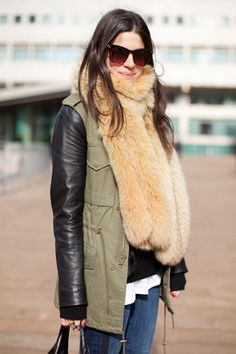 Zara jacket & fur