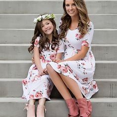 2019 New Family Match Outfits Mother Daughter Matching Dress Autumn Mommy and Me Dresses Xmas Vestidos – fashion Mother Daughter Matching Outfits, Mother Daughter Fashion, Mom Daughter, Matching Family Outfits, Mommy Daughter Dresses, Mommy And Me Dresses, Mommy And Me Outfits, Mom Dress, Look Fashion