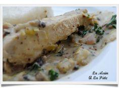 Poulet sauce crémeuse aux deux moutardes -
