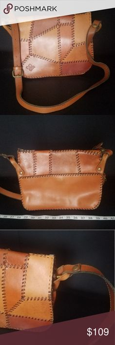 ecb439ef23 Patricia Nash Italian Leather Patchwork Crossbody New with tags