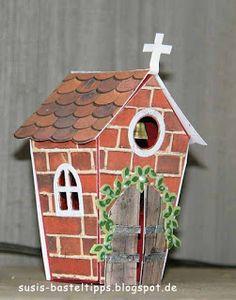 """Ein Haus für alle Fälle: Stampin' Up Framelits """"Zu Hause"""" : Kirche/ church with Stampin Up home sweet home dies"""