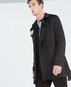 ZARA - MAN - NEOPRENE TRENCHCOAT