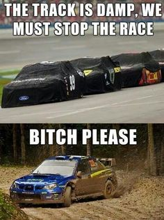 HA:) Subaru Impreza Fun - The track is damp, we must stop the race. BITCH PLEASE :)