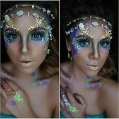 Like 216 times 16 comments Make-up artist Nicole Bachmann (.- Zoals 216 keer 16 reacties Make-upartiest Nicole Bachmann (Vicky& Make Up)… Like 216 times 16 comments Make-up artist Nicole Bachmann (Vicky & # s Make Up) # Make-up # Hautpflege - Halloween Looks, Halloween Nails, Halloween Halloween, Halloween Costumes, Maquillage Sf, Maquillage Halloween Clown, Glitter Carnaval, Make Up Art, How To Make