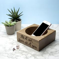 A stylish stash tray, perfect for the home or office. Made from solid oak and personalised with a message, date or initials of your choice, this gift can be personalised for any occasion. Measuring 15x15x6.5cm, it is the perfect for keeping, your jewellery, phone, keys, coins or wallet in. Why not personalise for Father's Day, as a special wedding keepsake or a memorable birthday present.