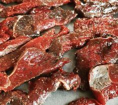 Smoked Goose Jerky Recipe, Maple Beef Jerky Recipe, Smoker Jerky Recipes, Smoked Meat Recipes, Jerky Marinade, Goose Recipes, Bradley Smoker, Making Jerky, Beef Wellington Recipe