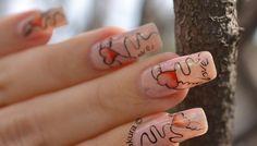 Nail Art Saint Valentin - Coeur léger