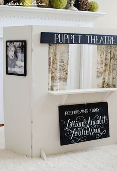 simple homemade puppet theatre for children
