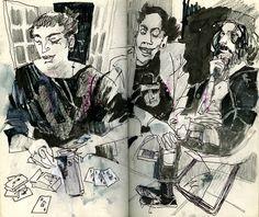 Sketchbook excerpt by young Sarasota-based artist Chris Leverett