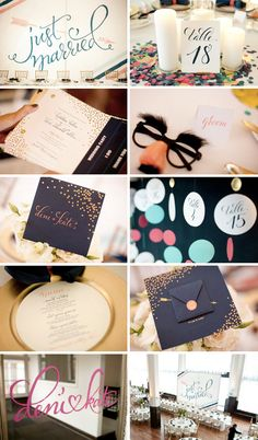 love the 'just married' backdrop -all calligraphy by plurabellecalligraphy  - nib & zed