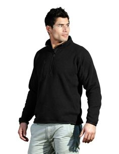 100% Polyester Sweater Fleece Pullover Tri mountain 935 #black #morning #jog #workout
