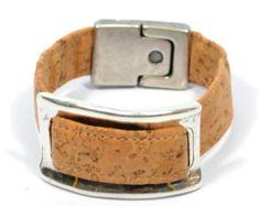Pulseira de cortiça para mulheres * pulseira de prata * pulseira ecológica * jóias de cortiça * presente para mãe * jóias ecológicas