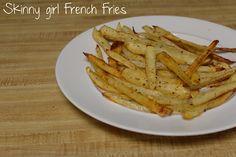 Skinny Girl French Fries Skinny Girl Diet, Skinny Girl Recipes, Skinny Girls, Side Recipes, Ww Recipes, Healthy Recipes, Healthy Meals, Healthy Food, Diabetic Living