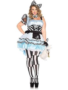 What a trip to Wonderland you can have when wearing the Sexy Psychedelic Alice Plus Size Women's Costume.