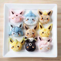 Go eat'em all: Care for some Pokemon rice balls? Bento Kawaii, Food Kawaii, Kawaii Cooking, Kawaii Dessert, Kawaii Cat, Arte Do Sushi, Sushi Art, Charlie Brown Snoopy, Japanese Food Art
