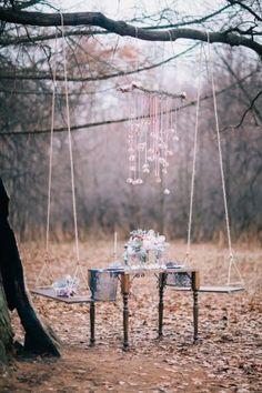 Морозно кристальная свадебная съемка