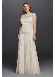 Melissa Sweet Wedding Dress with Cap Sleeves 8MS251136
