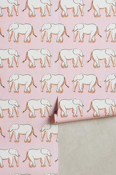 "Search Results for ""anthropologie sketched safari wallpaper – domino Powder Room Wallpaper, Pink Wallpaper, Pattern Wallpaper, Wallpaper Ideas, Edward Hall, Elephant Wallpaper, Elephant Nursery Decor, Paper Houses, Pink Elephant"