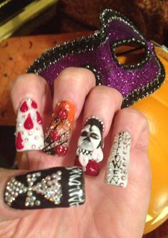 2013 Halloween Gothic Nails ...by Sky