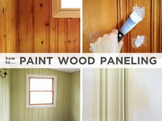 How to Paint Wood Paneling: I'm going to need this for two projects that are brewing.