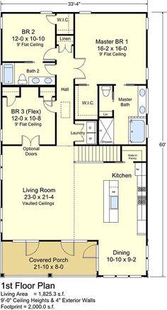 Description: The Minnow Cottage plan is a single-level cottage. Description: The Minnow Cottage plan is a single-level cottage. Coastal House Plans, Cottage Floor Plans, Beach House Plans, Cottage House Plans, Bedroom House Plans, New House Plans, Small House Plans, Coastal Homes, Cottage Homes