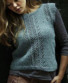 Rowan's Women's Slip by Sarah Hutton. Raverly. Pattern from Rowan.Great pattern for linen or tweed. 8 ply.
