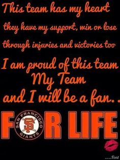 Giants Doesn't matter that we've now moved permanently to Colorado. We will always, ALWAYS be Giants Fans. From 1960 onward. San Fran Giants, San Francisco Giants Baseball, My Giants, San Francisco 49ers, G Man, Buster Posey, San Fransisco, Baseball Season, My Love