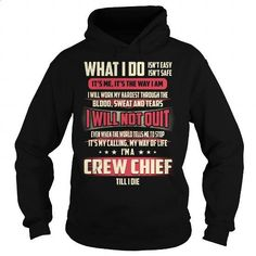 Crew Chief Job Title T-Shirt - #cheap shirts #red sweatshirt. BUY NOW => https://www.sunfrog.com/Jobs/Crew-Chief-Job-Title-T-Shirt-Black-Hoodie.html?60505