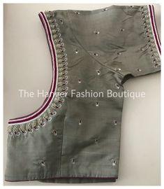 Wedding Saree Blouse Designs, Pattu Saree Blouse Designs, Blouse Designs Silk, Designer Blouse Patterns, Hand Work Blouse Design, Simple Blouse Designs, Stylish Blouse Design, Embroidery Neck Designs, Embroidery Stitches