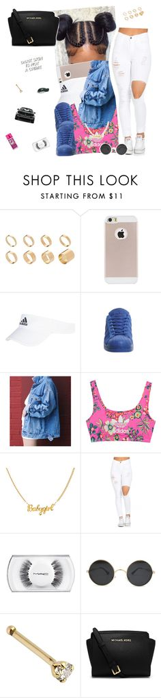 """July 16 🍚"" by frezhstyle ❤ liked on Polyvore featuring ASOS, adidas, adidas Originals, MAC Cosmetics, Mercedes-Benz, MICHAEL Michael Kors and Victoria's Secret"