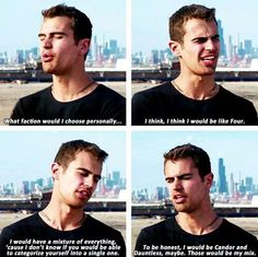 Theo James on what faction he would be in....