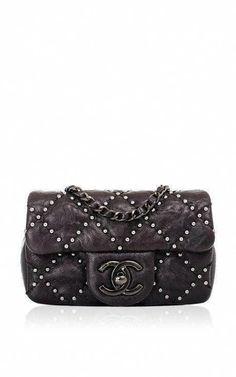 3de46f0d73e9 Chanel Black Lambskin Mini Studded Flap Bag by Madison Avenue Couture for  Preorder on Moda Operandi
