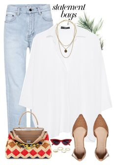 """""""Untitled #1582"""" by yagmur ❤ liked on Polyvore featuring Eco Style, Yves Saint Laurent, Steffen Schraut, Fendi, Witchery, VSA, Ippolita, Charlotte Russe and statementbags"""