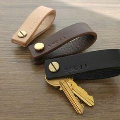 Hand made leather key holder