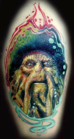 We have thousands of your favorite dark / evil tattoos right here, like this one by Ettore Bechis. Tattoo Images, Tattoo Photos, Piercing Tattoo, Piercings, Evil Tattoos, Dark Evil, Davy Jones, Body Modifications, Body Mods