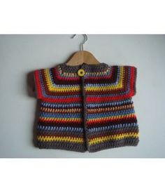 Handmade crochet baby cardigan made by #KODI