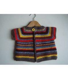 Handmade crochet baby cardigan made by #KODI