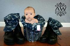 Dual military. Baby pride.