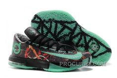 "the latest 6531b e8c5e Nike Kevin Durant KD 6 VI ""Illusion"" All-Star Multi-Color Green Glow-Black  For Sale Online"