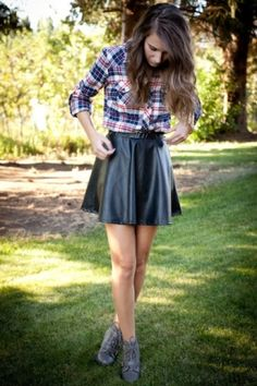Can't get over the leather skirts! by liz