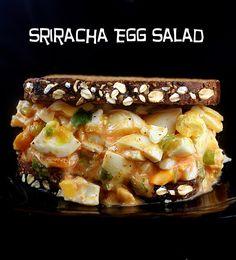 Sriracha Egg Salad on Honey Oatmeal Walnut Poppy Seed Bread