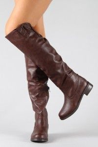 Bamboo YODA-15 Knee High Leatherette Riding Boot