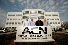 ACN Co-Founders in front of the ACN World Headquarters in Concord, NC