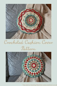 A free pattern for making a crocheted cushion cover. The tutorial includes instructions for making the pad by upcycling an old cushion that's gone flat. Crochet Cushion Pattern, Cushion Cover Pattern, Crochet Cushion Cover, Crochet Cushions, Crochet Hats, Cushion Pads, Cushion Covers, Slip Stitch, Crochet Projects
